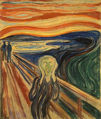 Cardboard Painting - The Scream Edvard Munch 1910 by Movie Poster Prints