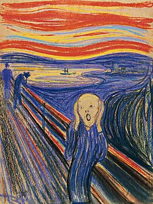 Edward Munch Painting - The Scream by Edvard Munch
