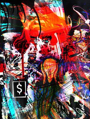 The Scream Flat Broke 2012 - Huge Signed Art Abstract Paintings Modern Www.splashyartist.com Art Print