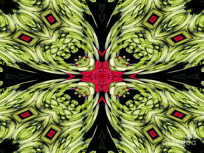 Kaleidoscope Photograph - The Scream In Flowers Abstract by Rose Santuci-Sofranko