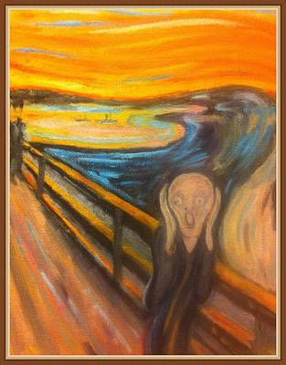 amazoncom the scream of nature edvard munch art print - 455×646
