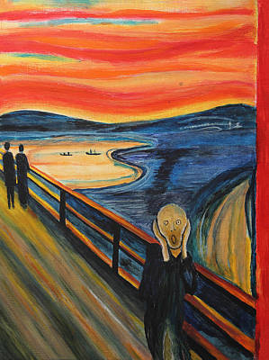 Disorder Painting - The Scream by Nirdesha Munasinghe
