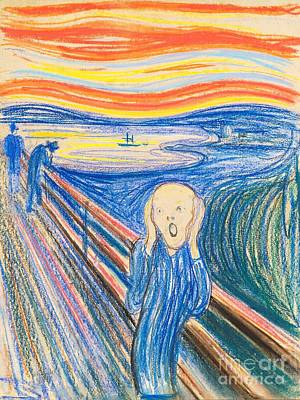 Painting - The Scream - Pastel by Pg Reproductions