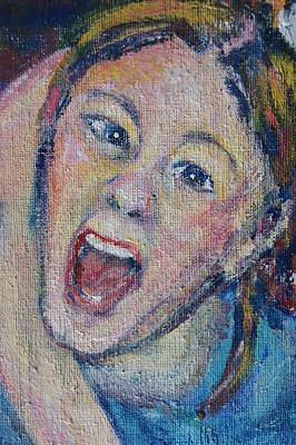 The Scream Art Print by Susan Brown    Slizys art signature name