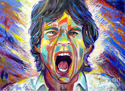 Mick Jagger And Keith Richards Painting - The Scream by To-Tam Gerwe