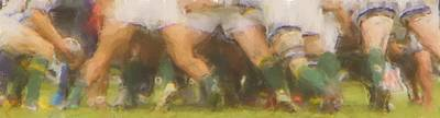 Rugby Photograph - The Scrum by Brian Orlovich