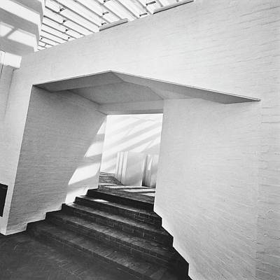 Architecture Photograph - The Sculpture Gallery Of Architecture Philip by Horst P. Horst