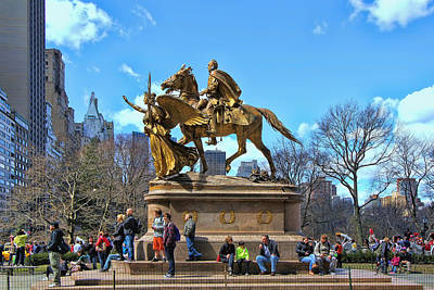 Photograph - The Sculpture Of General William Tecumseh Sherman  by Allen Beatty
