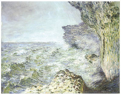 Fecamp Painting - The Sea At Fecamp by Claude Monet