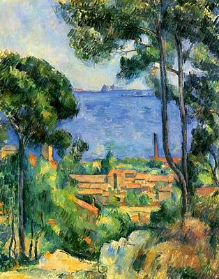 Estaque Painting - The Sea At The Estaque by Paul Cezanne