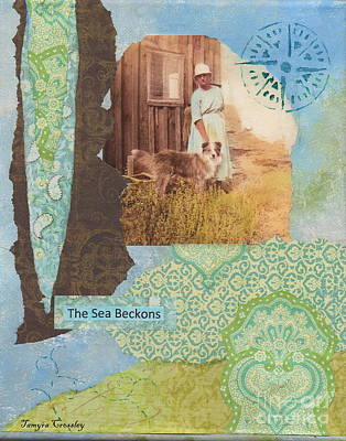 Painting - The Sea Beckons by Tamyra Crossley