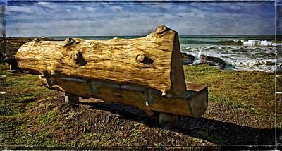 Sea Bench Art Print