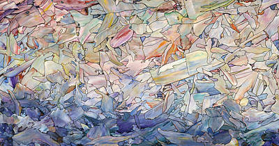 Expressive Painting - Fragmented Sea by James W Johnson