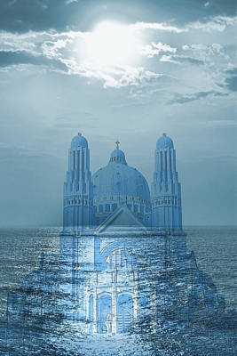 The Sea Church Art Print by Angel Jesus De la Fuente
