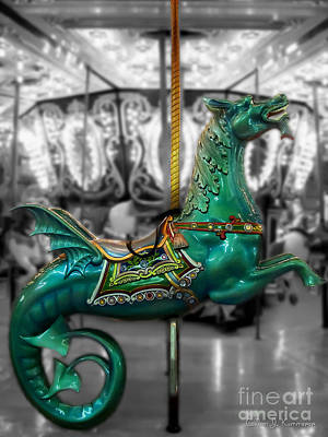 Photograph - The Sea Dragon - Carousel by Colleen Kammerer