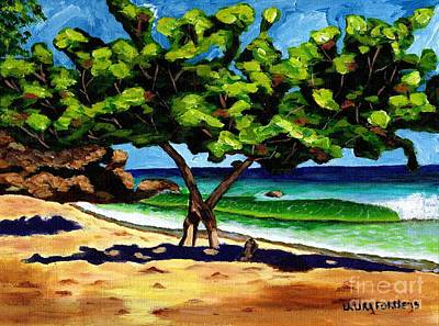 Art Print featuring the painting The Sea-grape Tree by Laura Forde