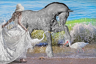 Egret Digital Art - The Sea Horse by Betsy Knapp