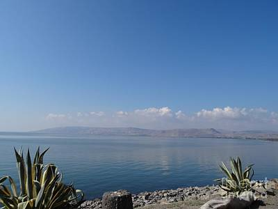 Loaves And Fish Photograph - The Sea Of Galilee At Capernaum by Karen Jane Jones