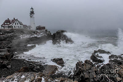 Surfing Maine Photograph - The Sea Was Angry  by Joe Faragalli