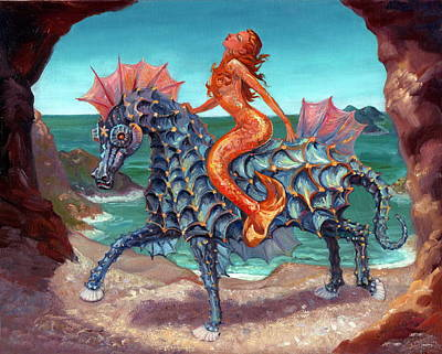 Painting - The Seamaid's Fantasy by Kerry Nelson