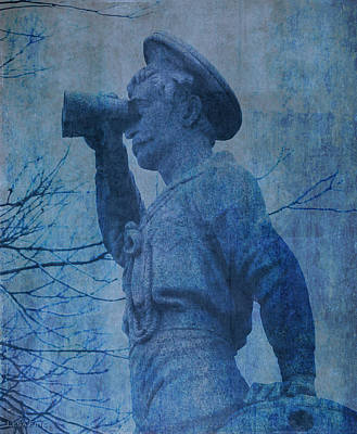Mixed Media - The Seaman In Blue by Lesa Fine