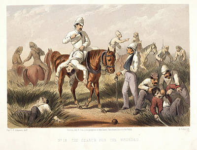 The Search For The Wounded Art Print by British Library