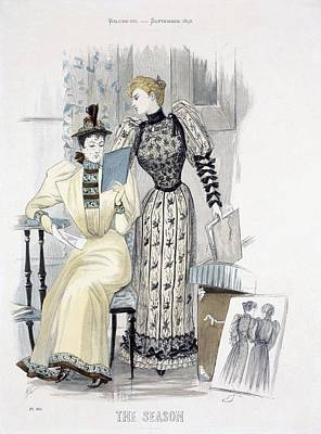 Dress Shop Drawing - The Season, Fashion Plate For The by English School