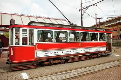 The Seaton Electric Tramway In Seaton Art Print