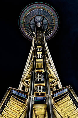Seattle Center Photograph - The Seattle Space Needle by David Patterson