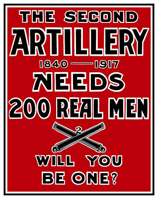 The Second Artillery Needs 200 Real Men Art Print by War Is Hell Store