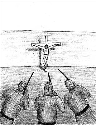 Crucifix Art Drawing - The Second Coming by David S Reynolds