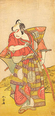 Celestial Painting - The Second Ichikawa Yaozo As A Samurai Dressed In A Gaudy Kamishimo by Celestial Images