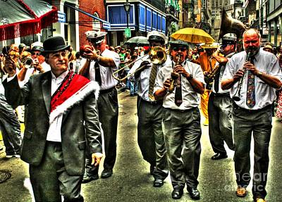 Marching Band Photograph - The Second Line by Bob Hislop