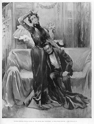 The Second Mrs Tanqueray, Eleonora Duse Art Print by  Illustrated London News Ltd/Mar