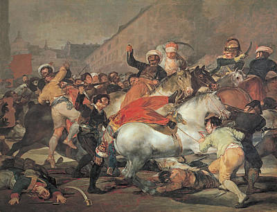 Mayo Painting - The Second Of May, 1808  The Riot Against The Mameluke Mercenaries by Francisco Jose de Goya y Lucientes