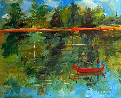 Water Retrieve Painting - The Secret by Charlie Spear