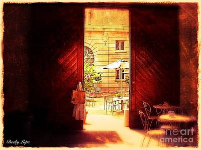 Photograph - The Secret Courtyard  by Becky Lupe