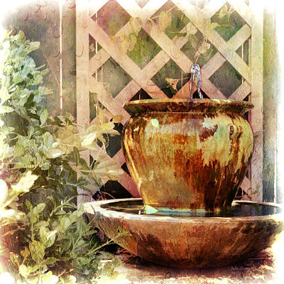 Photograph - The Secret Fountain by Julia Springer