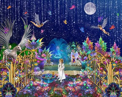 Goblin Digital Art - The Secret Garden by Peggi Wolfe