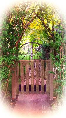 Photograph - The Secret Gardens Gate by Becky Lupe