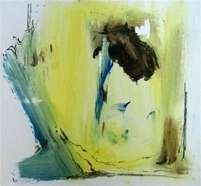 Painting - The Secret Inside The Lyrebirds Nest II - No Border by John L Campbell