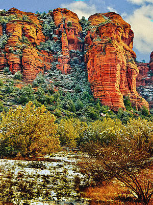 Print featuring the photograph The Secret Mountain Wilderness In Sedona Back Country by Bob and Nadine Johnston