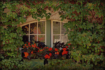 Window Ledge Photograph - The Secret Window by Maria Angelica Maira