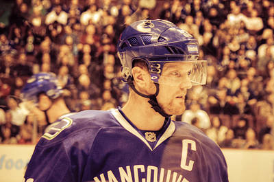 Olympic Hockey Photograph - The Sedin Brothers-vancouver Canucks by Eti Reid