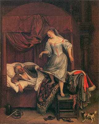 The Seduction Art Print by Jan Steen