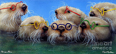 Painting - The See Otters... by Will Bullas