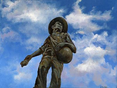Oklahoma University Wall Art - Painting - The Seed Sower by Linda Dunbar