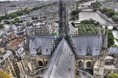 Aeriel View Photograph - The Seine And Notre Dame De Paris by Colin Woods