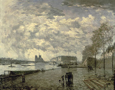Notre Dame Cathedral Painting - The Seine And Notre Dame by Frank Myers Boggs
