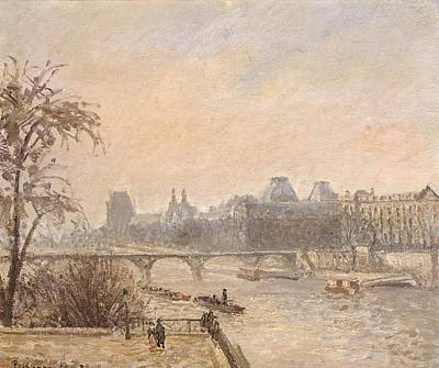 Impressionist Photograph - The Seine And The Louvre, 1903 Oil On Canvas by Camille Pissarro